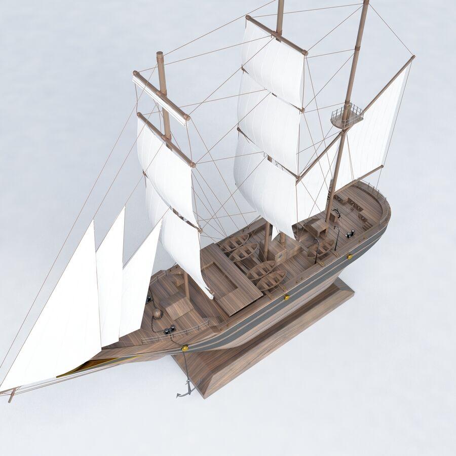 帆船模型 royalty-free 3d model - Preview no. 4