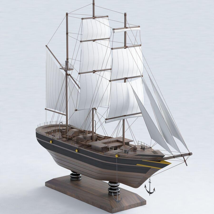 帆船模型 royalty-free 3d model - Preview no. 2