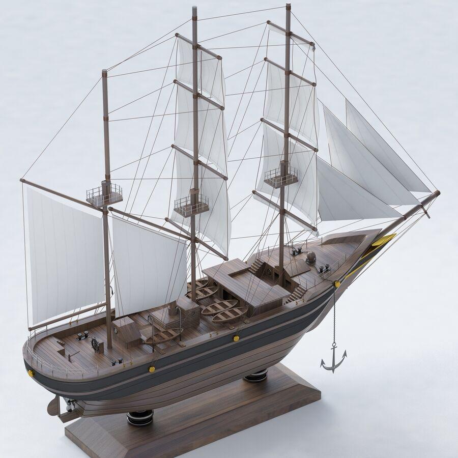 帆船模型 royalty-free 3d model - Preview no. 6