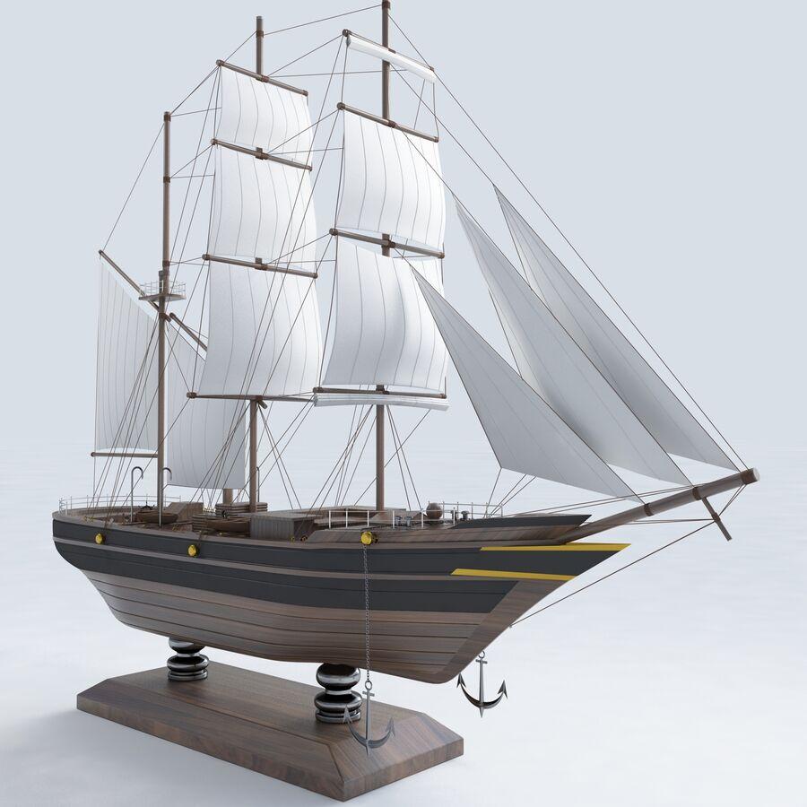 帆船模型 royalty-free 3d model - Preview no. 5