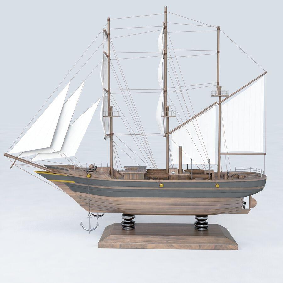 帆船模型 royalty-free 3d model - Preview no. 10