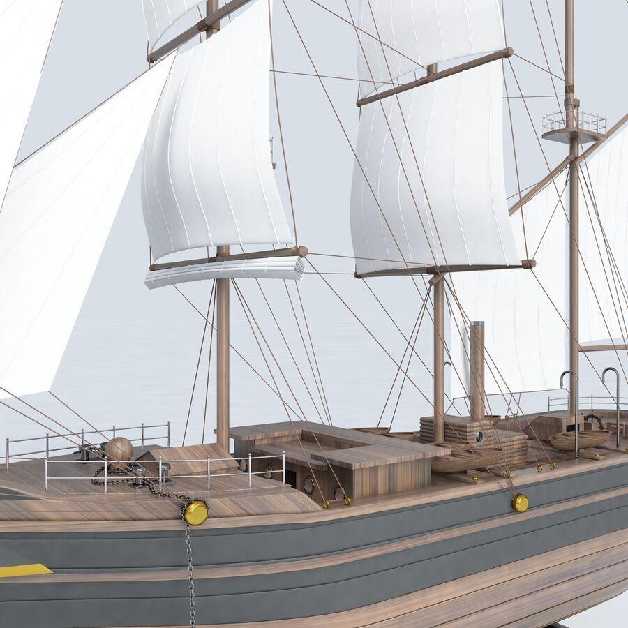 帆船模型 royalty-free 3d model - Preview no. 9