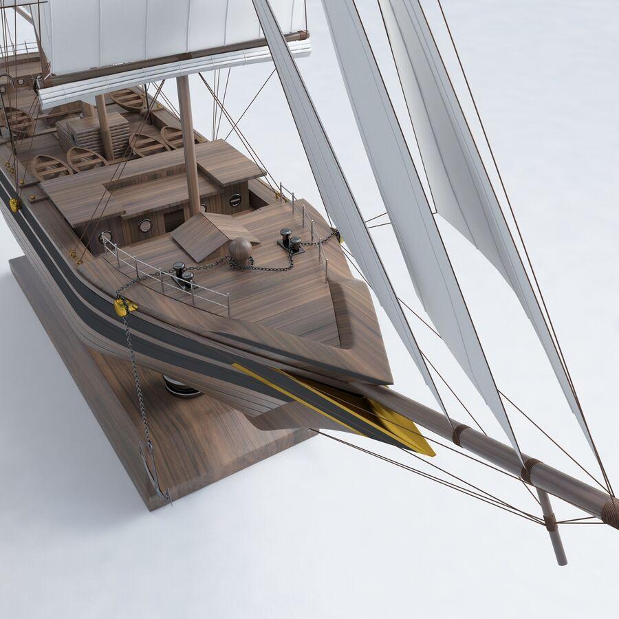 帆船模型 royalty-free 3d model - Preview no. 11