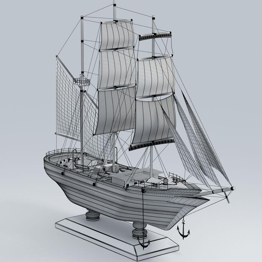 帆船模型 royalty-free 3d model - Preview no. 17