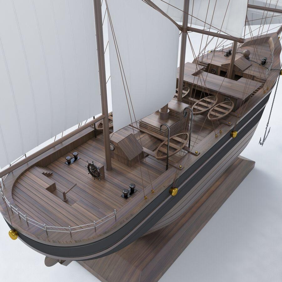 帆船模型 royalty-free 3d model - Preview no. 3