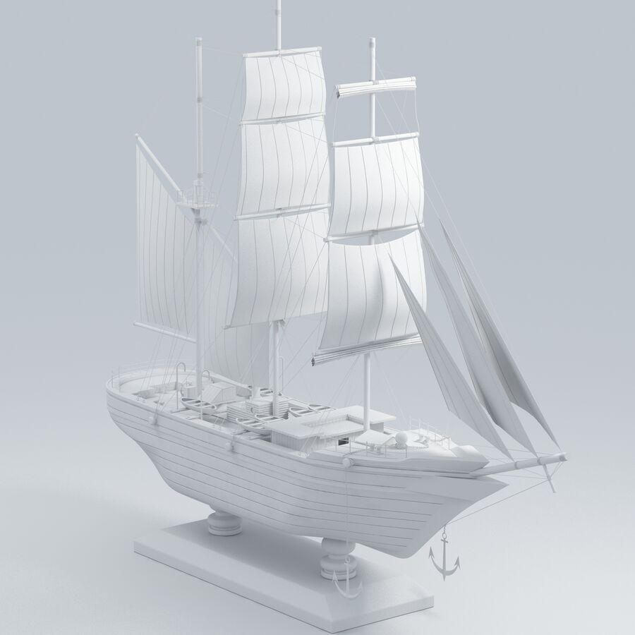 帆船模型 royalty-free 3d model - Preview no. 15