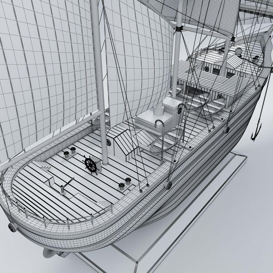 帆船模型 royalty-free 3d model - Preview no. 16