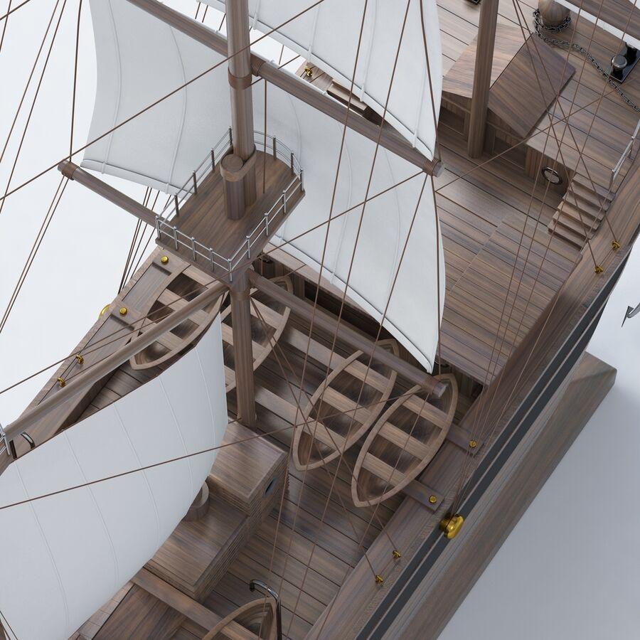 帆船模型 royalty-free 3d model - Preview no. 13