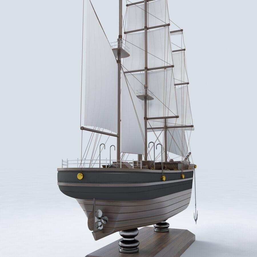 帆船模型 royalty-free 3d model - Preview no. 12