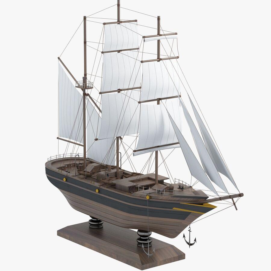 帆船模型 royalty-free 3d model - Preview no. 1