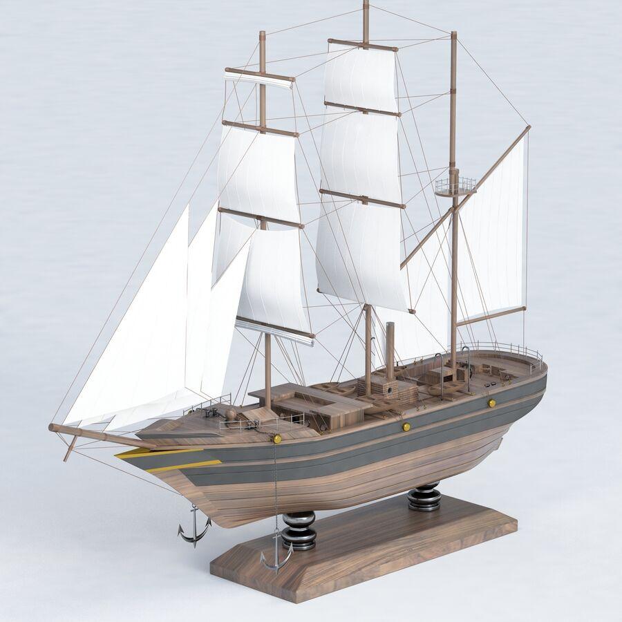 帆船模型 royalty-free 3d model - Preview no. 14