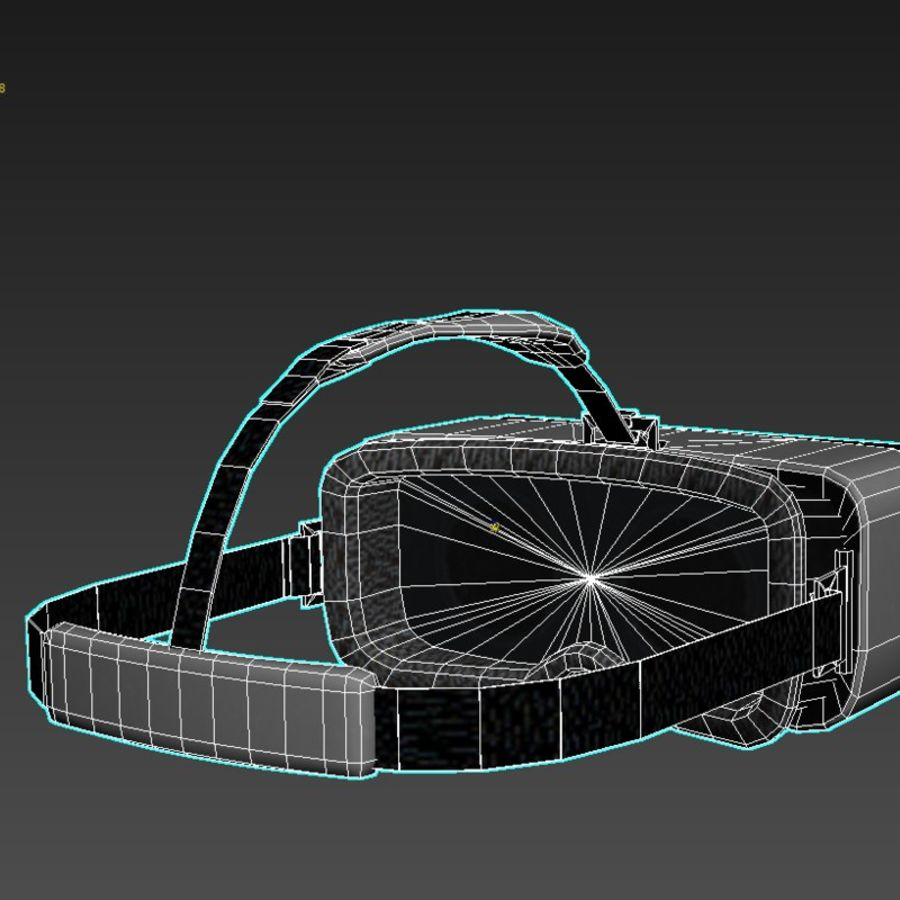 Gear VR headset lowpoly royalty-free 3d model - Preview no. 7