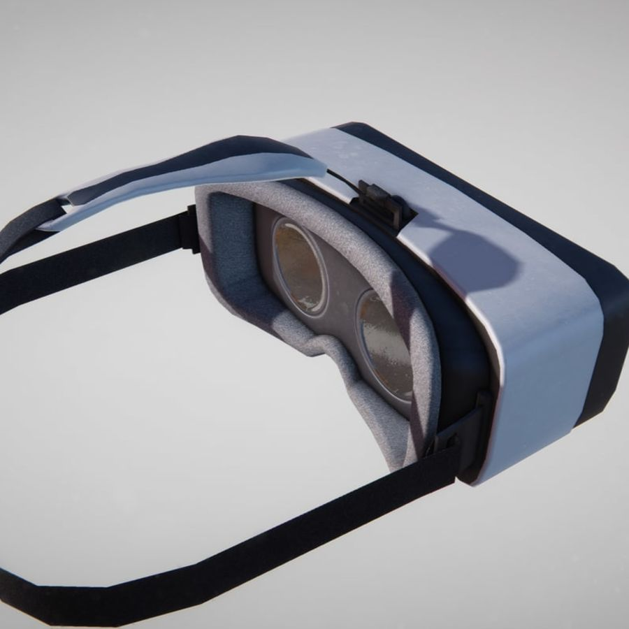 Gear VR headset lowpoly royalty-free 3d model - Preview no. 3