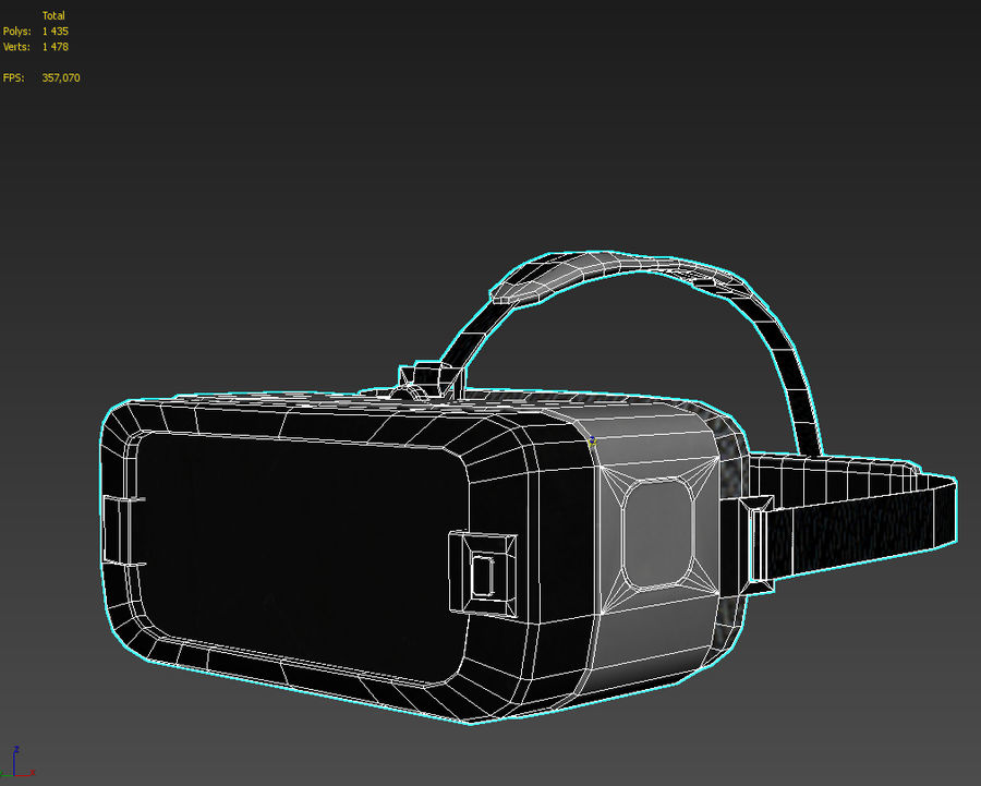 Gear VR headset lowpoly royalty-free 3d model - Preview no. 6