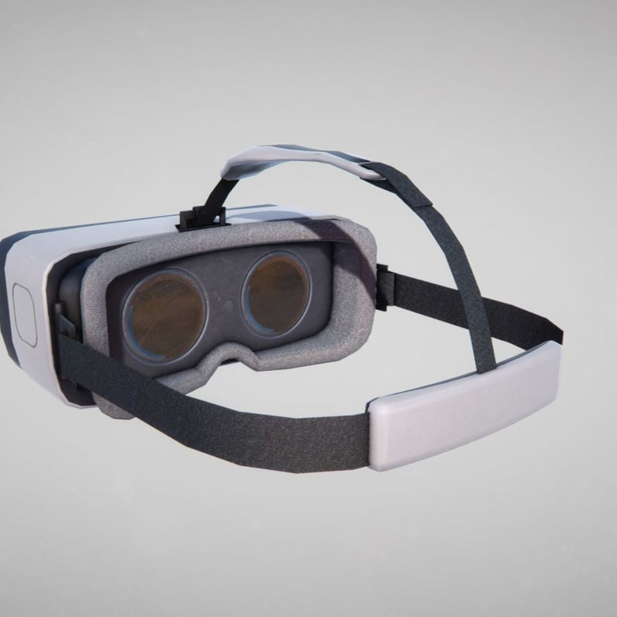Gear VR headset lowpoly royalty-free 3d model - Preview no. 2