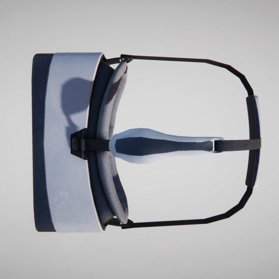 Gear VR headset lowpoly royalty-free 3d model - Preview no. 5