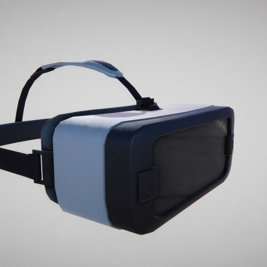 Gear VR headset lowpoly royalty-free 3d model - Preview no. 4