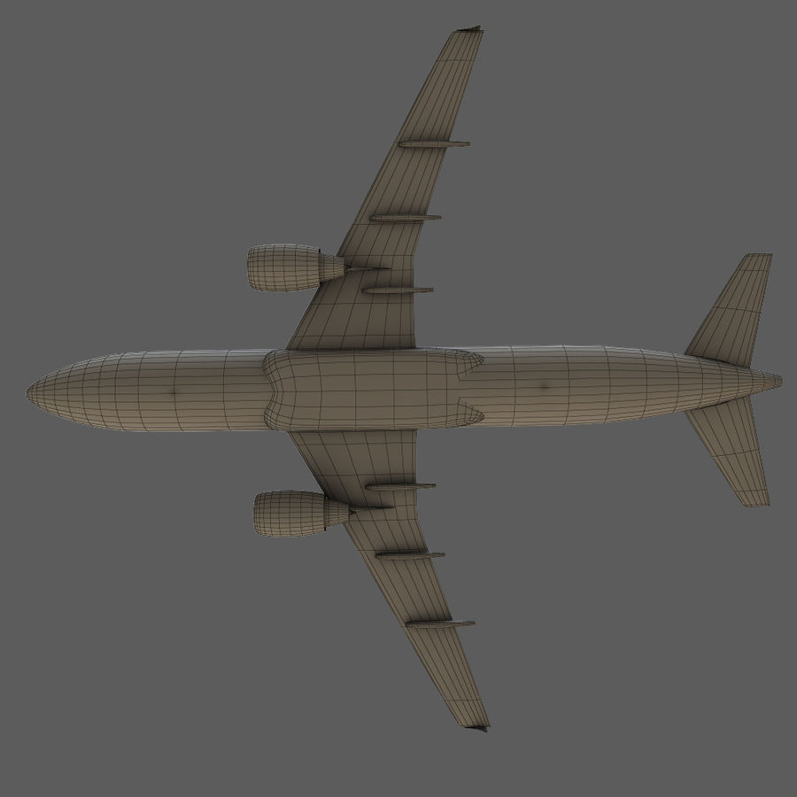 Airbus A320 royalty-free 3d model - Preview no. 38