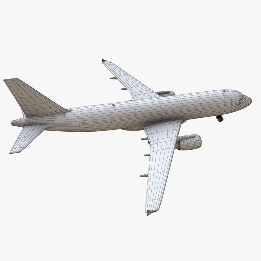 Airbus A320 royalty-free 3d model - Preview no. 29