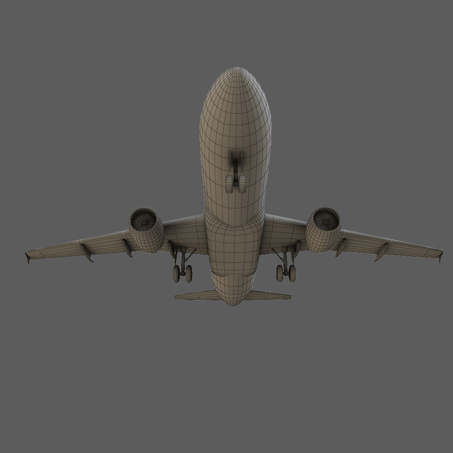 Airbus A320 royalty-free 3d model - Preview no. 34