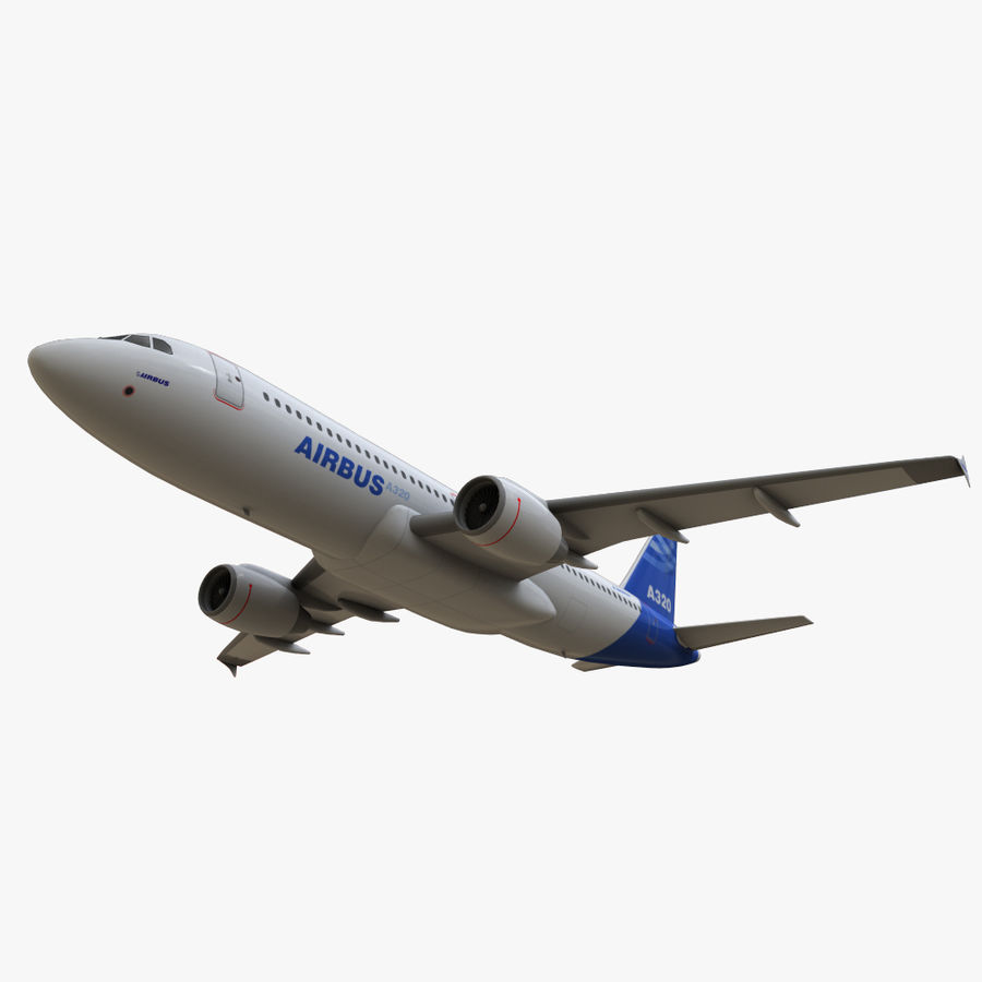 Airbus A320 royalty-free 3d model - Preview no. 21