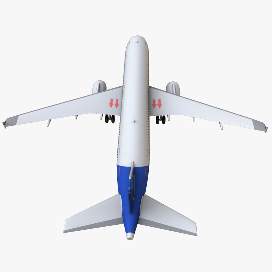 Airbus A320 royalty-free 3d model - Preview no. 25