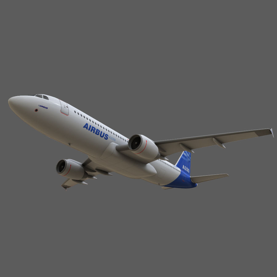 Airbus A320 royalty-free 3d model - Preview no. 22