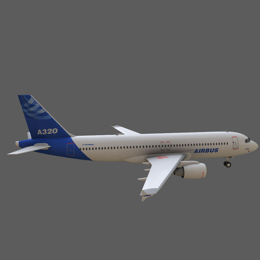 Airbus A320 royalty-free 3d model - Preview no. 12