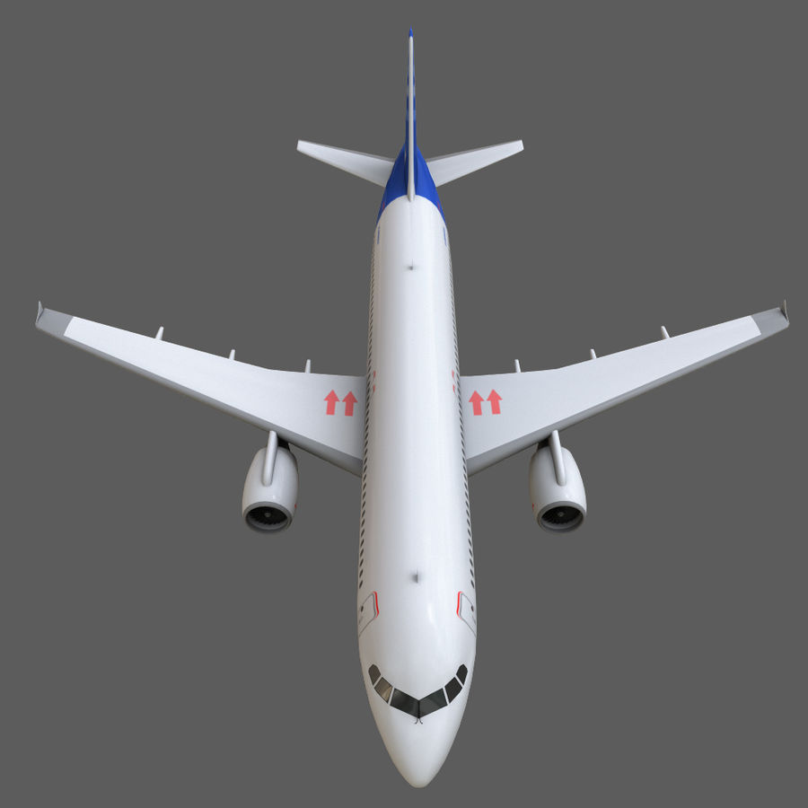 Airbus A320 royalty-free 3d model - Preview no. 24