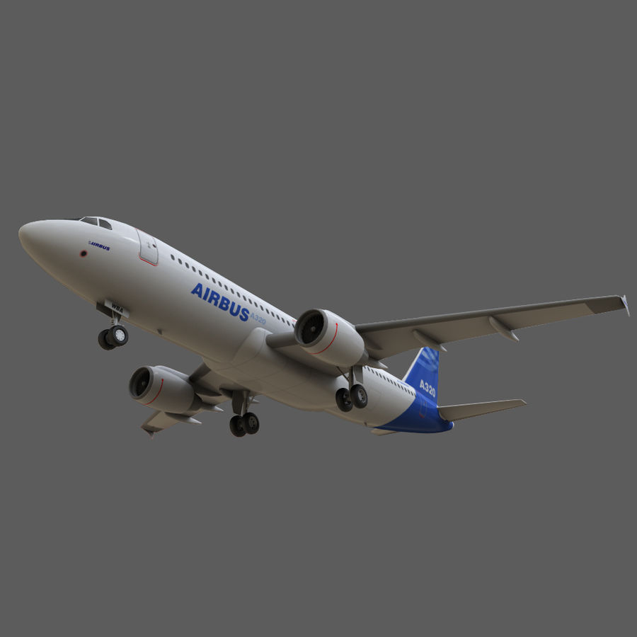 Airbus A320 royalty-free 3d model - Preview no. 20