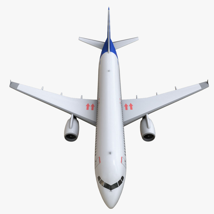 Airbus A320 royalty-free 3d model - Preview no. 23