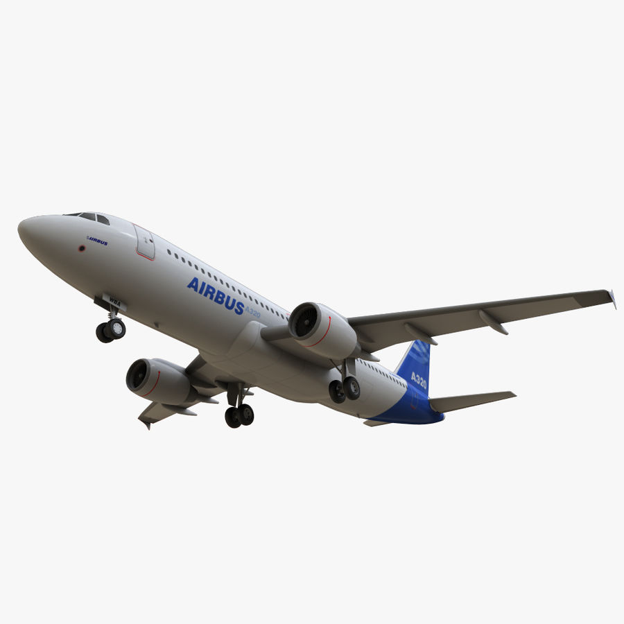Airbus A320 royalty-free 3d model - Preview no. 19