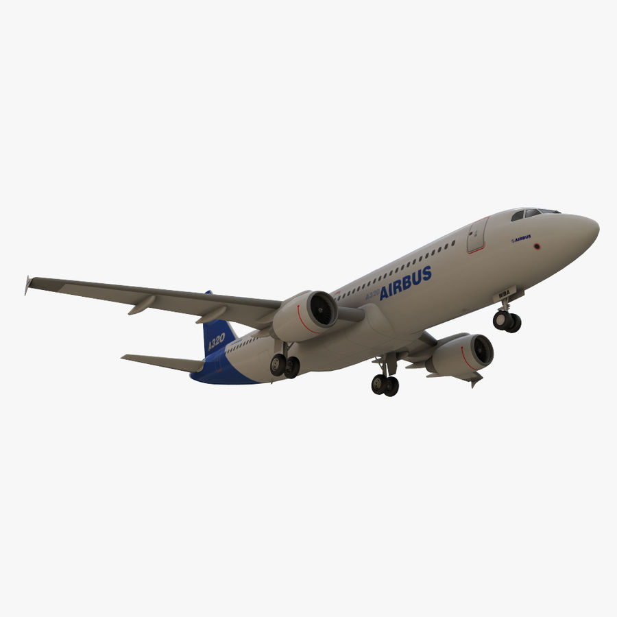 Airbus A320 royalty-free 3d model - Preview no. 13