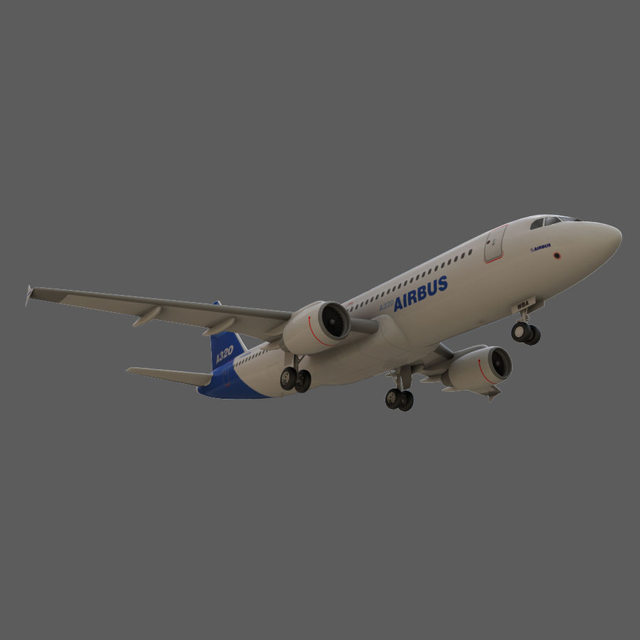 Airbus A320 royalty-free 3d model - Preview no. 14