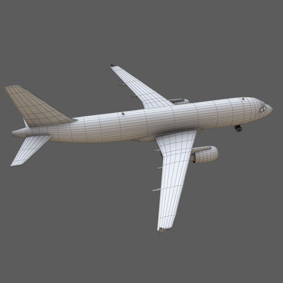 Airbus A320 royalty-free 3d model - Preview no. 30