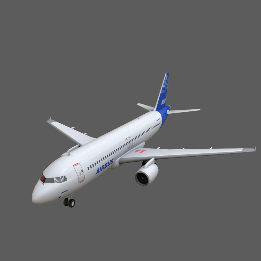 Airbus A320 royalty-free 3d model - Preview no. 4