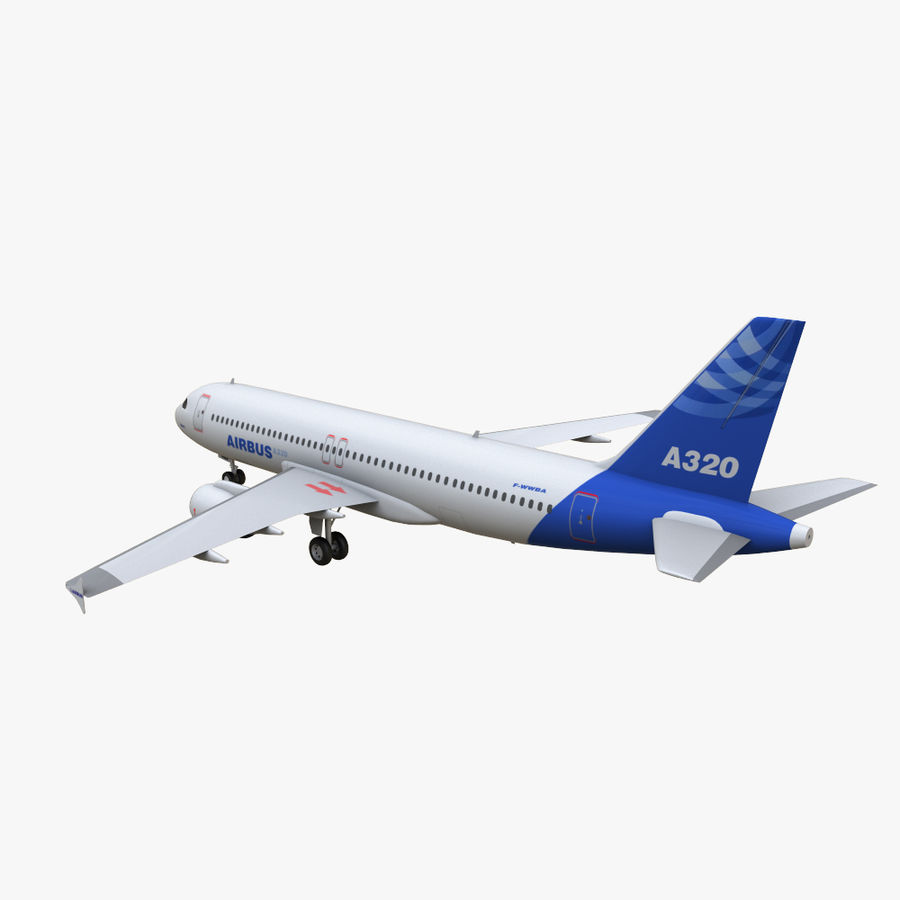 Airbus A320 royalty-free 3d model - Preview no. 7