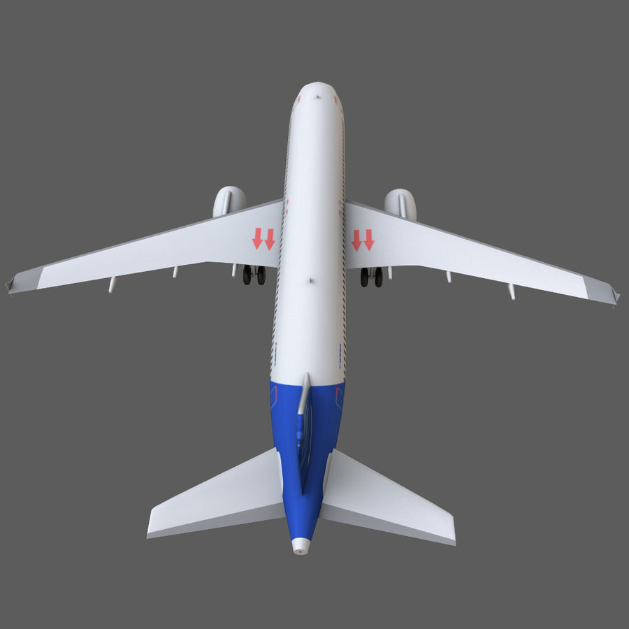 Airbus A320 royalty-free 3d model - Preview no. 26