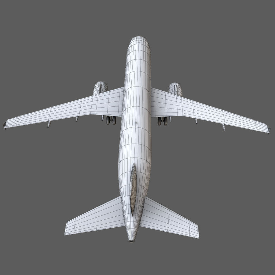 Airbus A320 royalty-free 3d model - Preview no. 28