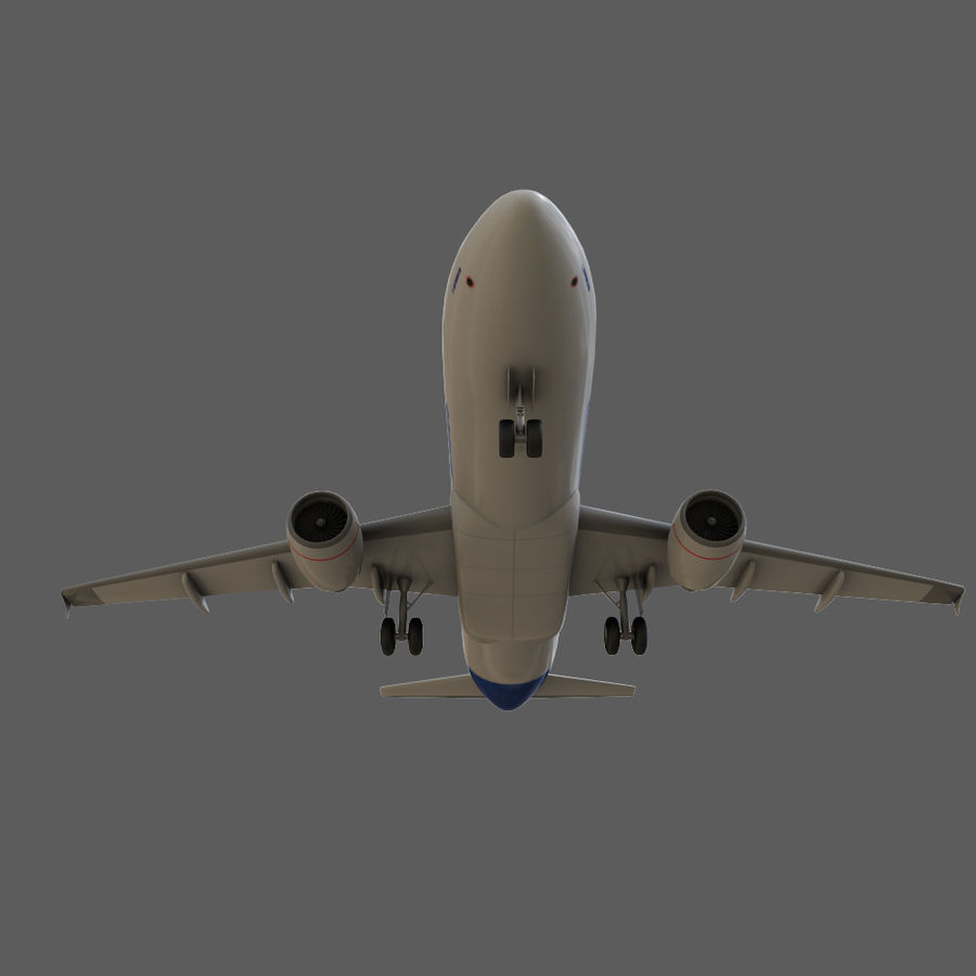 Airbus A320 royalty-free 3d model - Preview no. 16