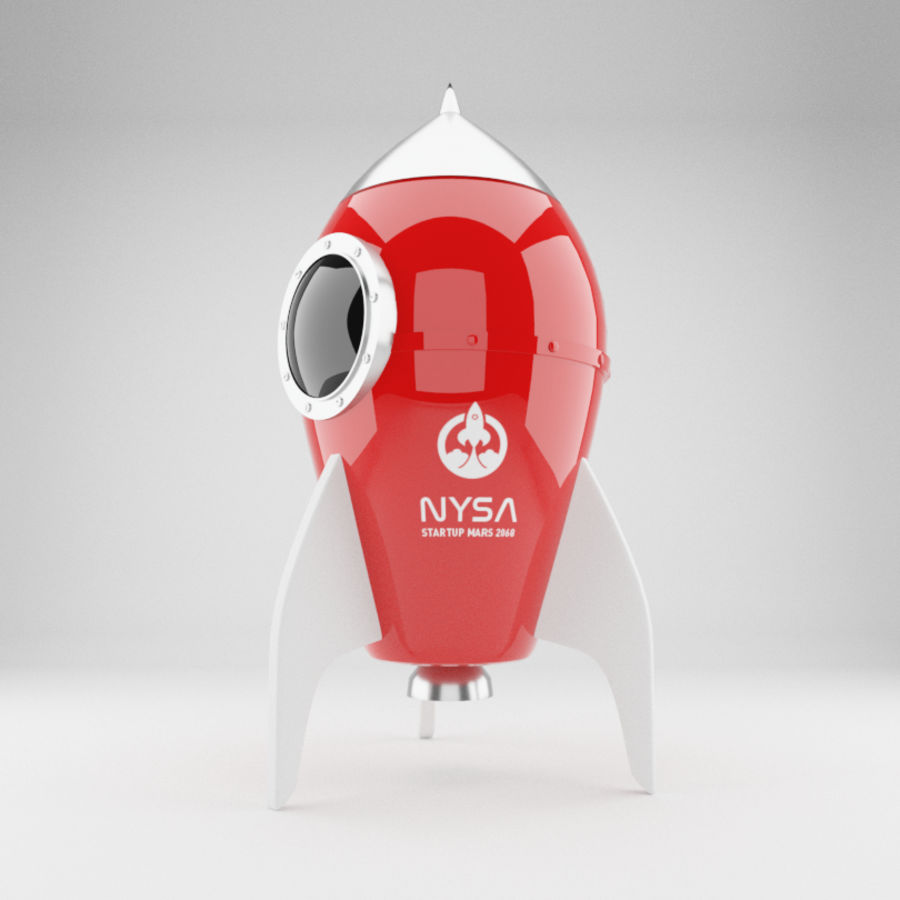 Rocket toy royalty-free 3d model - Preview no. 1