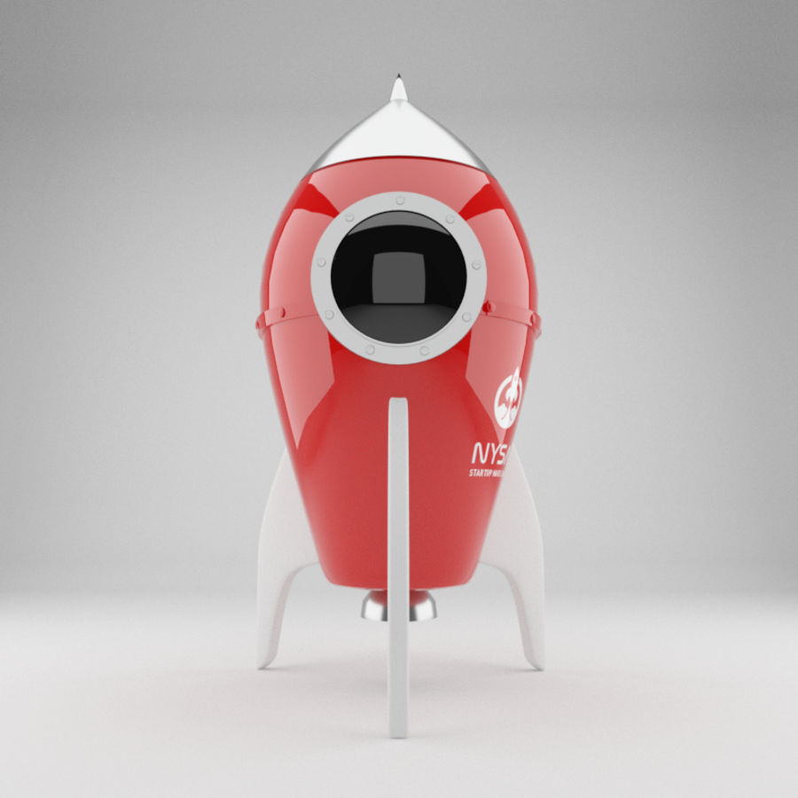Rocket toy royalty-free 3d model - Preview no. 2