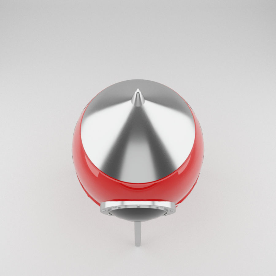 Rocket toy royalty-free 3d model - Preview no. 4