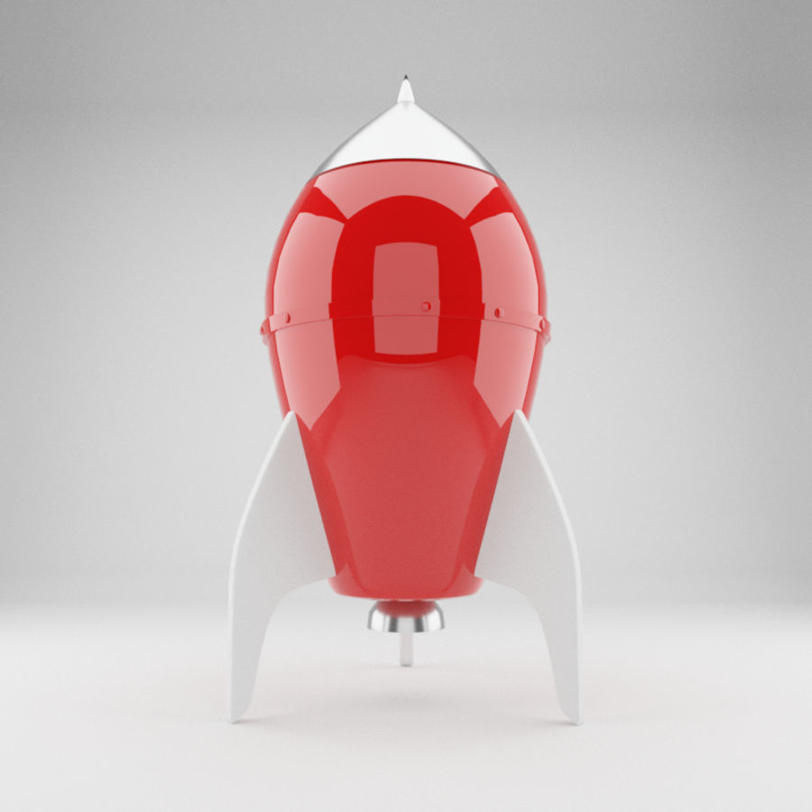 Rocket toy royalty-free 3d model - Preview no. 3