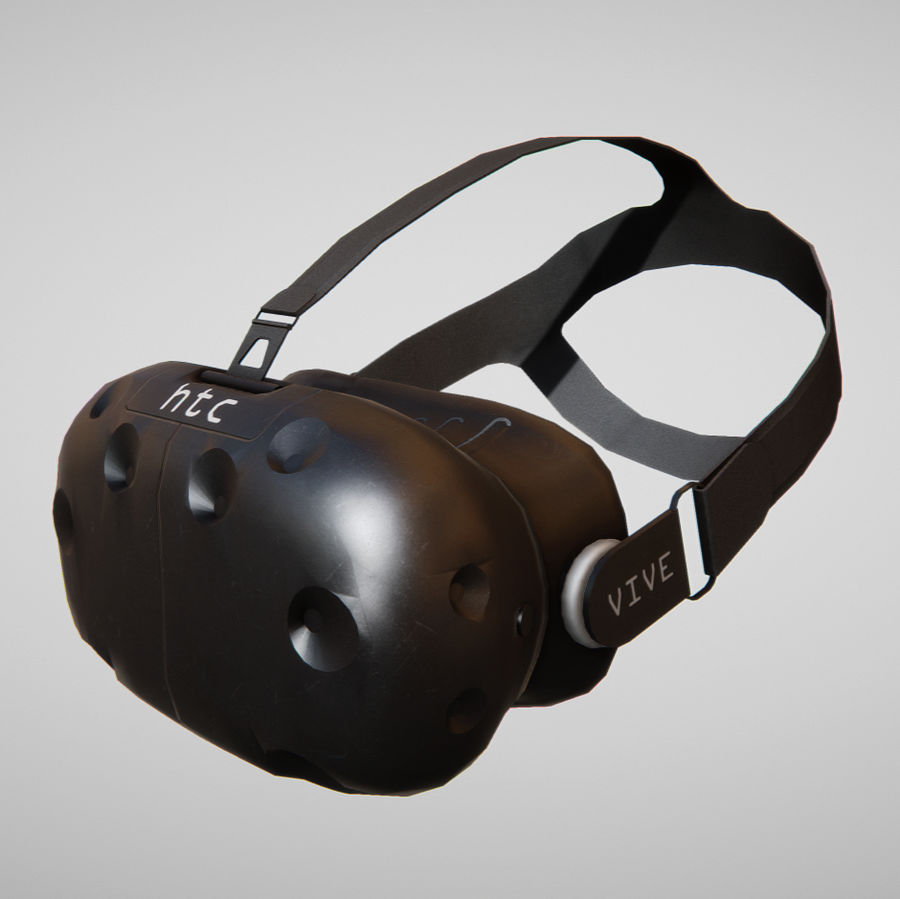 HTC Vive kulaklık lowpoly royalty-free 3d model - Preview no. 1