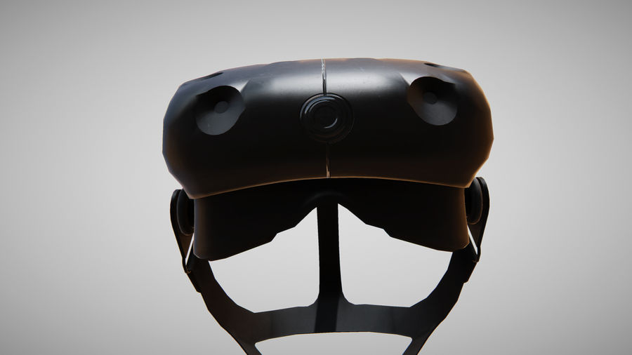 HTC Vive headset lowpoly royalty-free 3d model - Preview no. 4