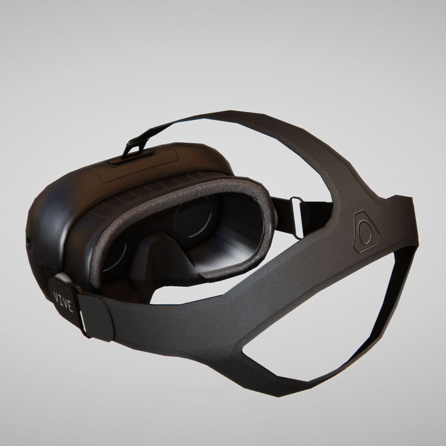 HTC Vive headset lowpoly royalty-free 3d model - Preview no. 2