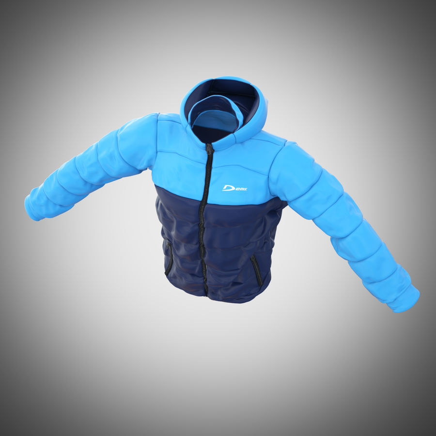 Sports winter jacket royalty-free 3d model - Preview no. 5