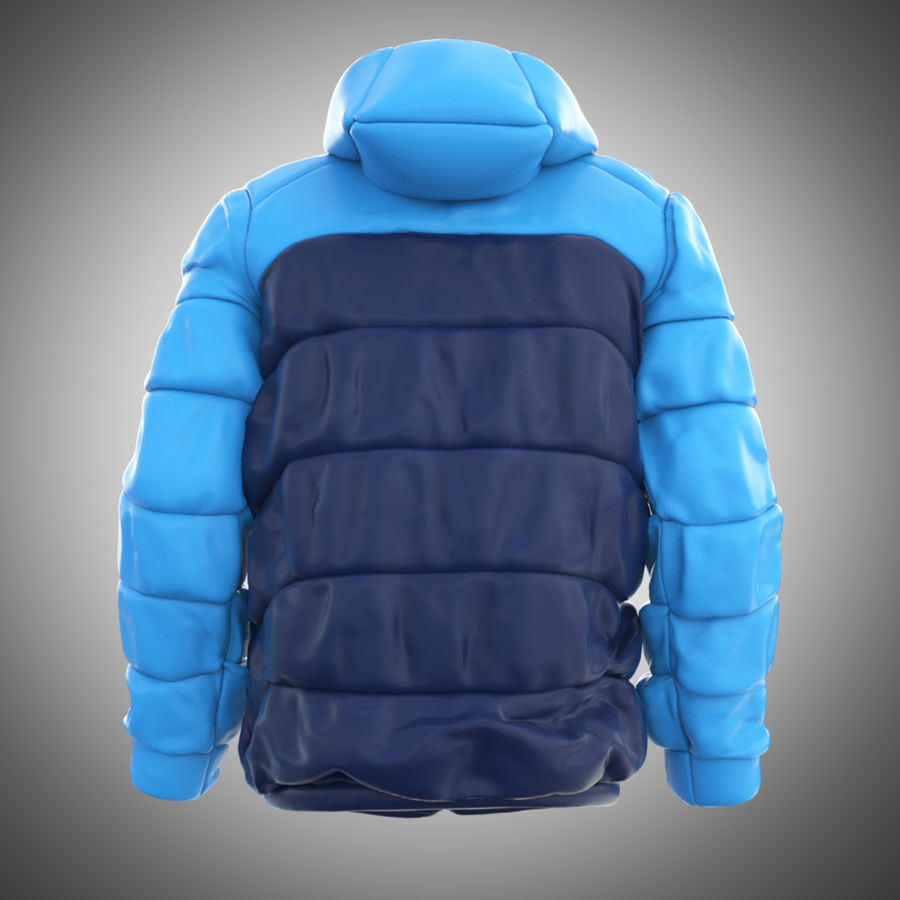 Sports winter jacket royalty-free 3d model - Preview no. 4