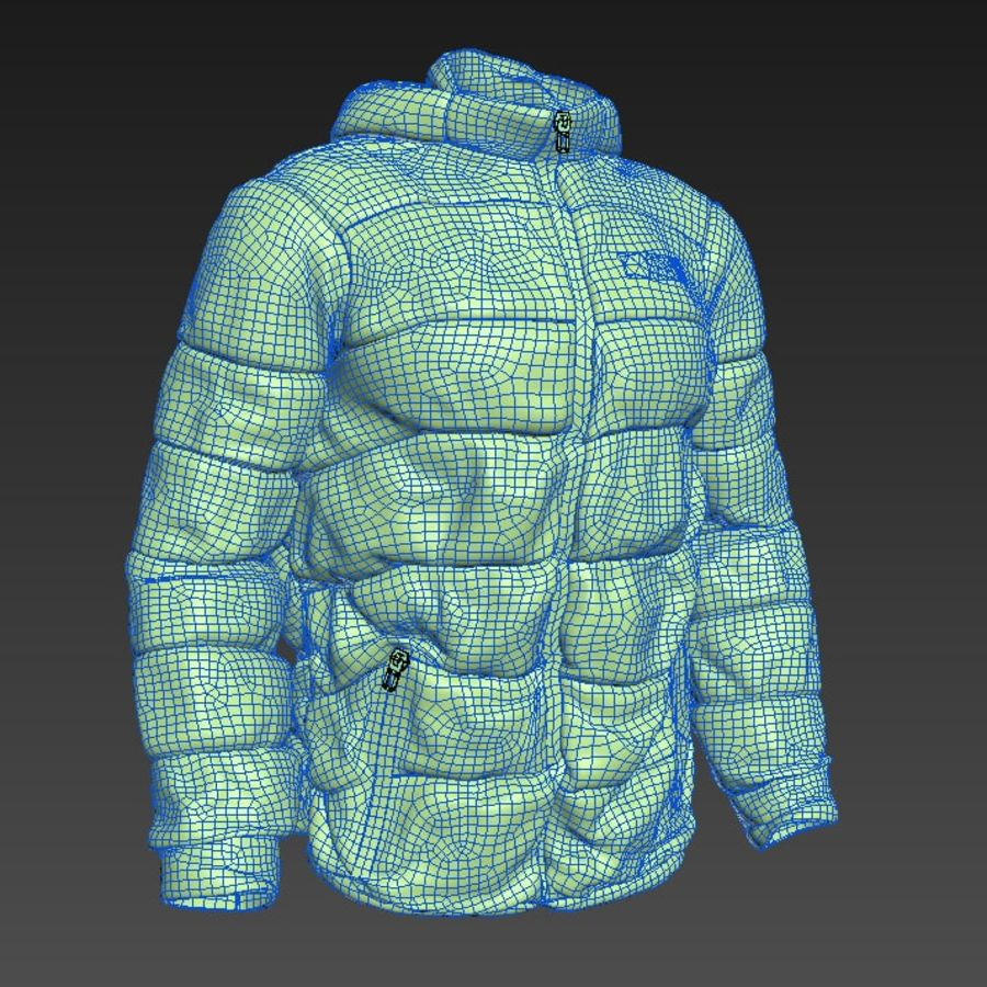Sports winter jacket royalty-free 3d model - Preview no. 9